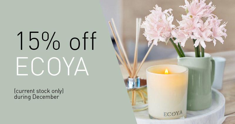 15% off Ecoya